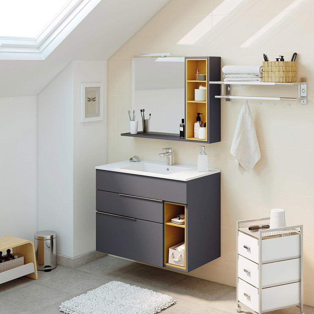 Mueble de lavabo nook ref 17957821 leroy merlin for Mueble auxiliar lavabo