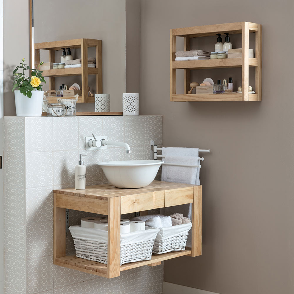 Mueble de lavabo palet ref 19431405 leroy merlin for Lavabo pequeno leroy merlin