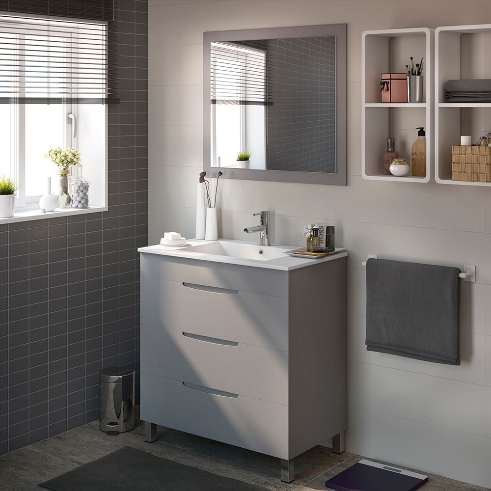 Mueble de lavabo quadro ref 17124604 leroy merlin for Muebles leroy merlin