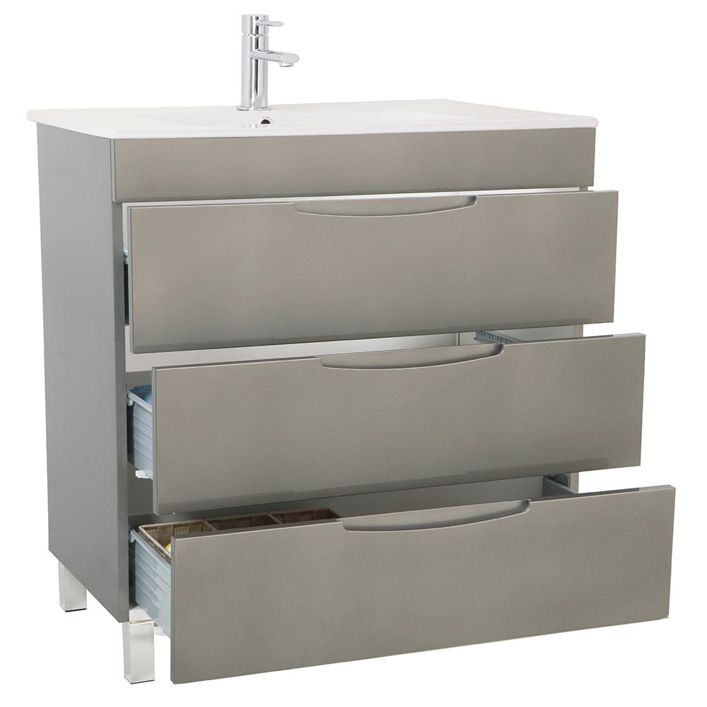 Mueble de lavabo quadro ref 17124604 leroy merlin for Mueble auxiliar lavabo
