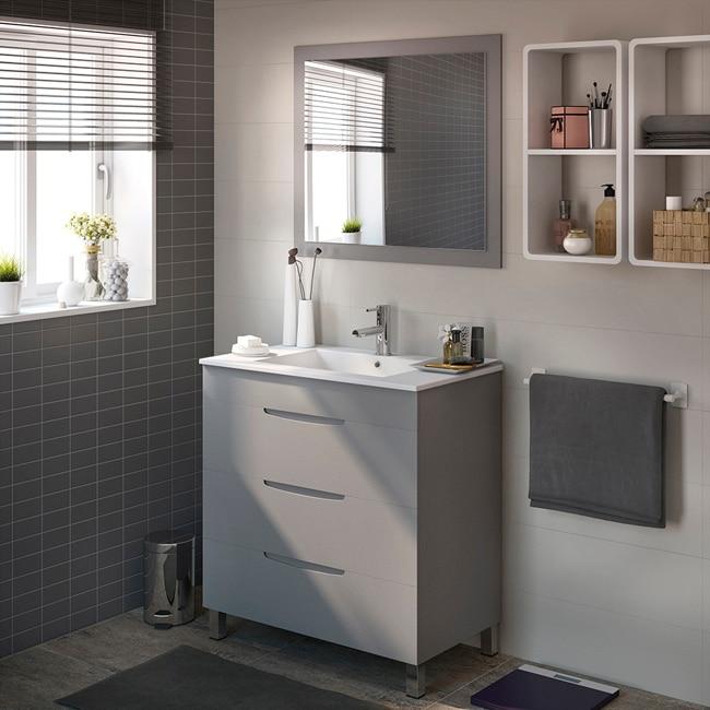 Mueble de lavabo quadro ref 17124604 leroy merlin for Lavabos leroy merlin