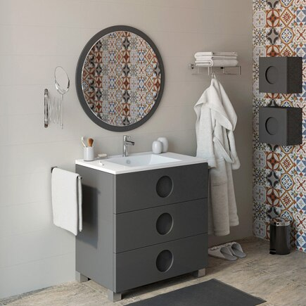 Mueble de lavabo sphere ref 16701426 leroy merlin for Mueble lavabo pie leroy merlin