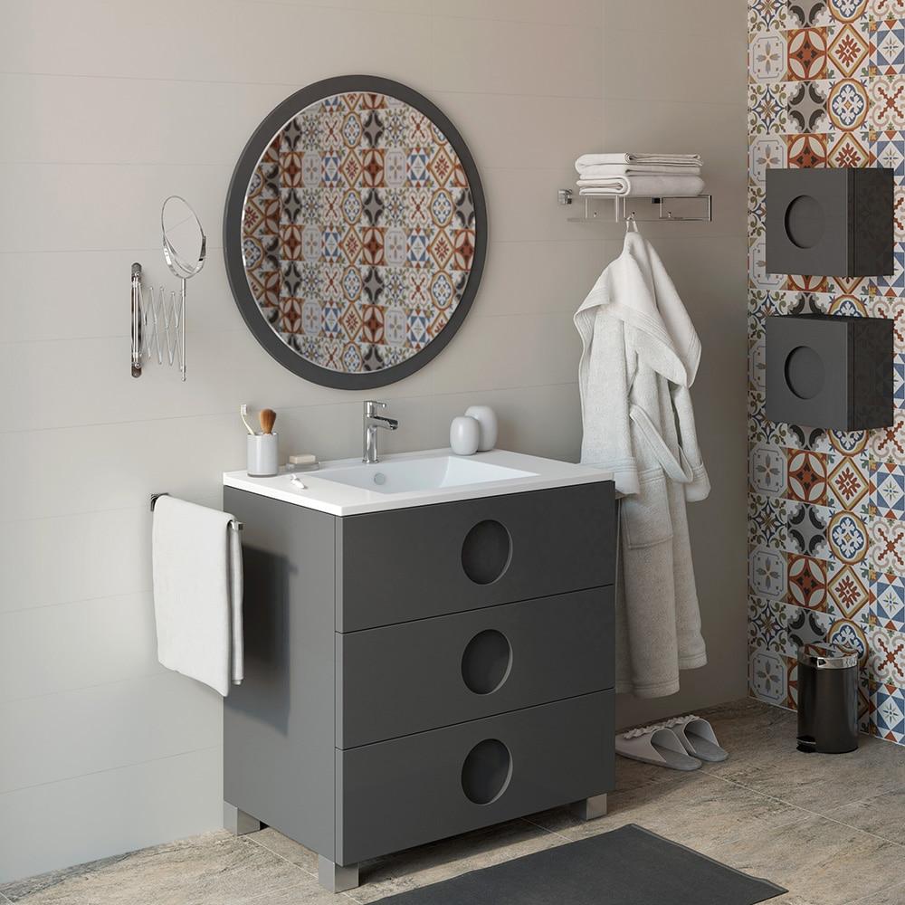 Mueble de lavabo sphere ref 16701426 leroy merlin for Mueble lavabo fondo reducido