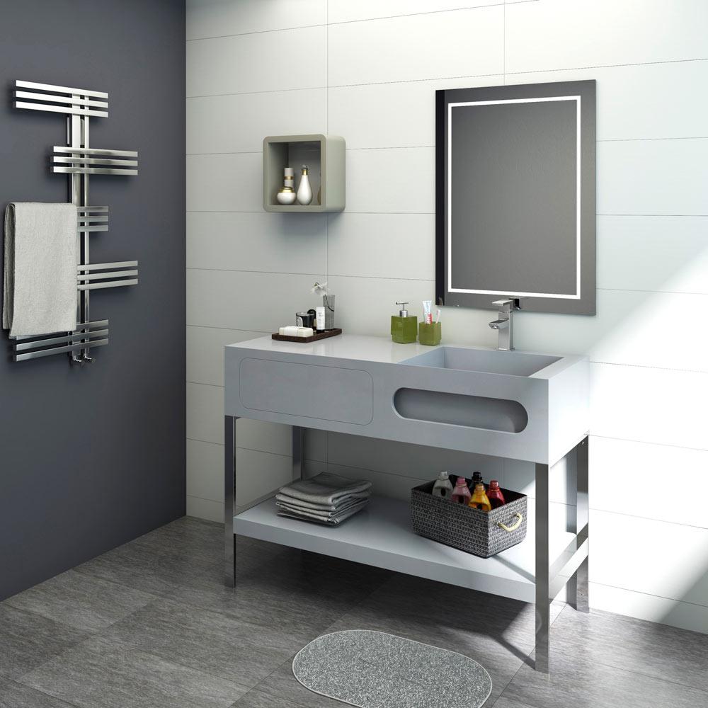 Mueble de lavabo stonemobel ref 17928316 leroy merlin for Muebles bano baratos leroy merlin