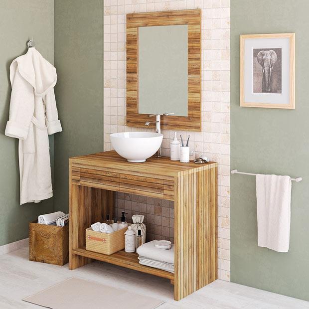 Muebles de lavabo leroy merlin for Muebles rusticos de madera para banos