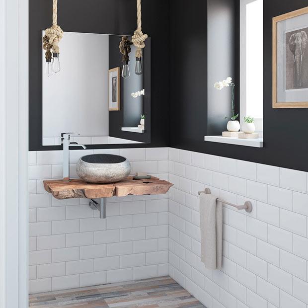 Muebles de lavabo leroy merlin for Mueble rustico ikea