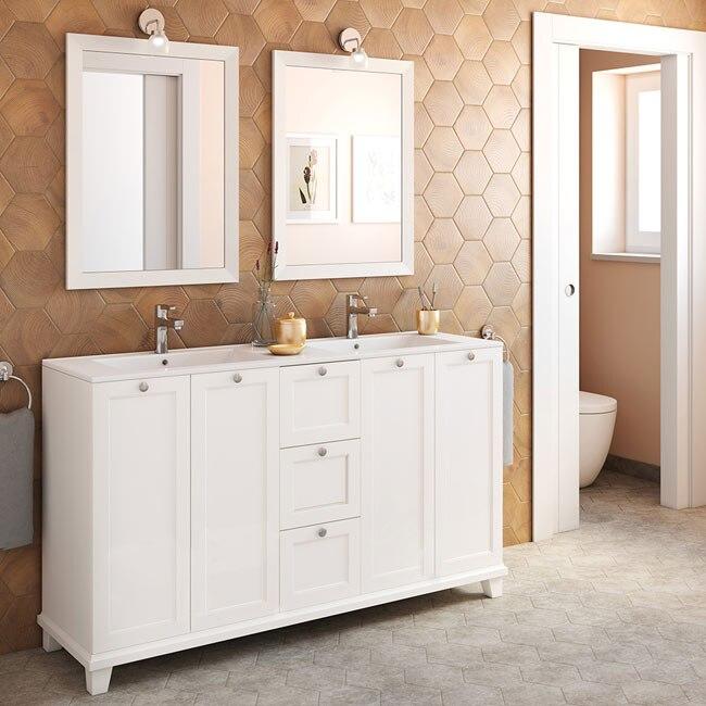 Mueble de lavabo unike ref 18568585 leroy merlin for Mueble unike leroy merlin