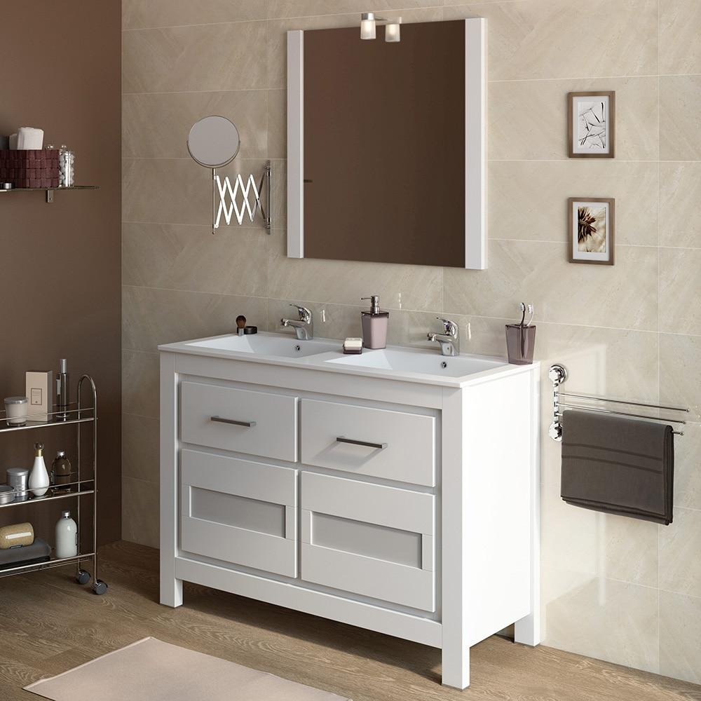 Mueble de lavabo versalles ref 16716371 leroy merlin - Mueble bano dos senos 150 ...