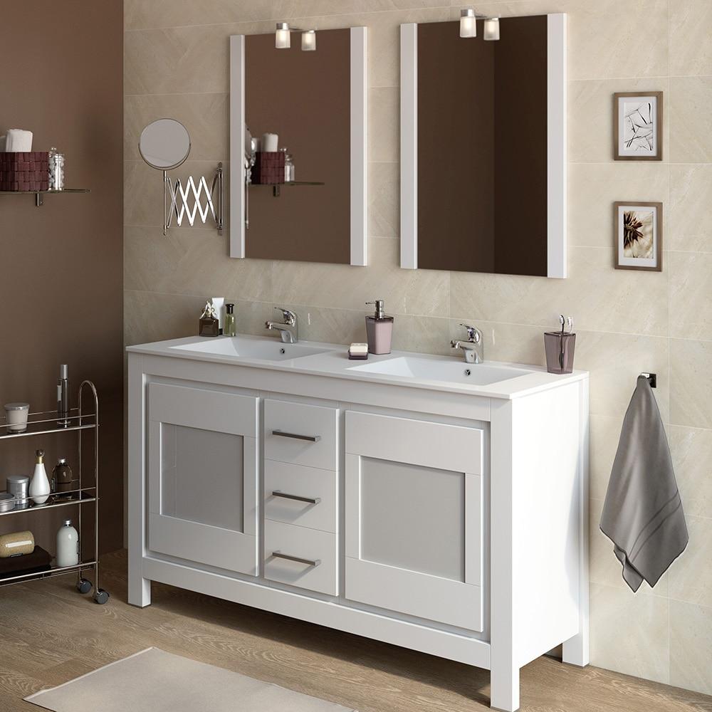 Mueble de lavabo versalles ref 16738323 leroy merlin for Mueble bano dos senos 150
