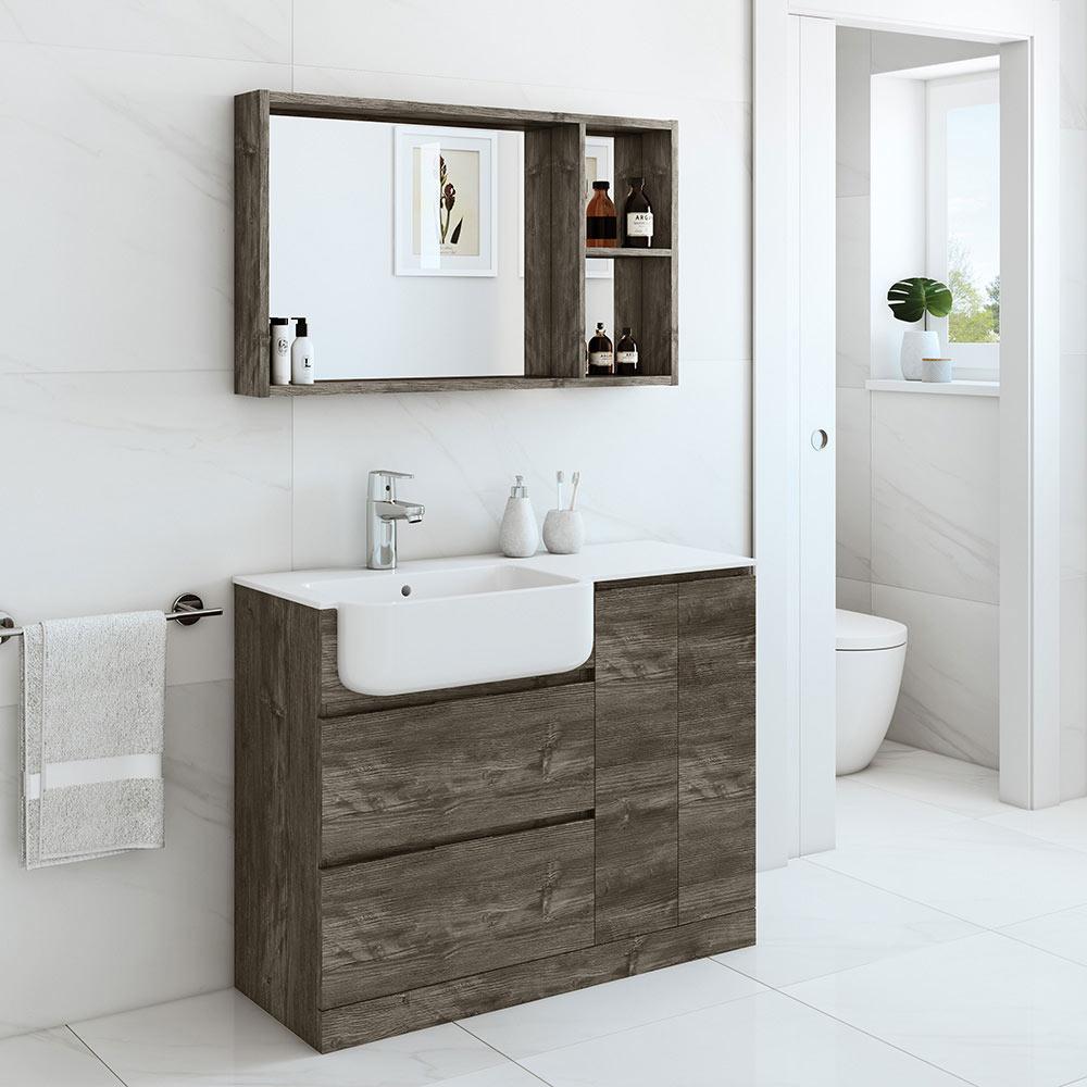 Conjunto de mueble de lavabo zenia ref 6005 19824392 for Muebles tv leroy merlin