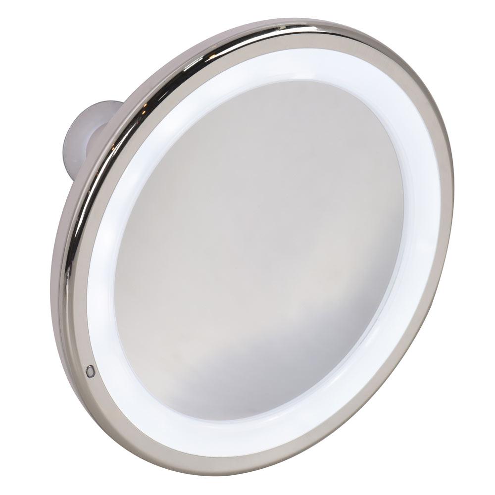Espejo de aumento serie ventosas ilum led ref 19001612 for Espejo irrompible leroy merlin