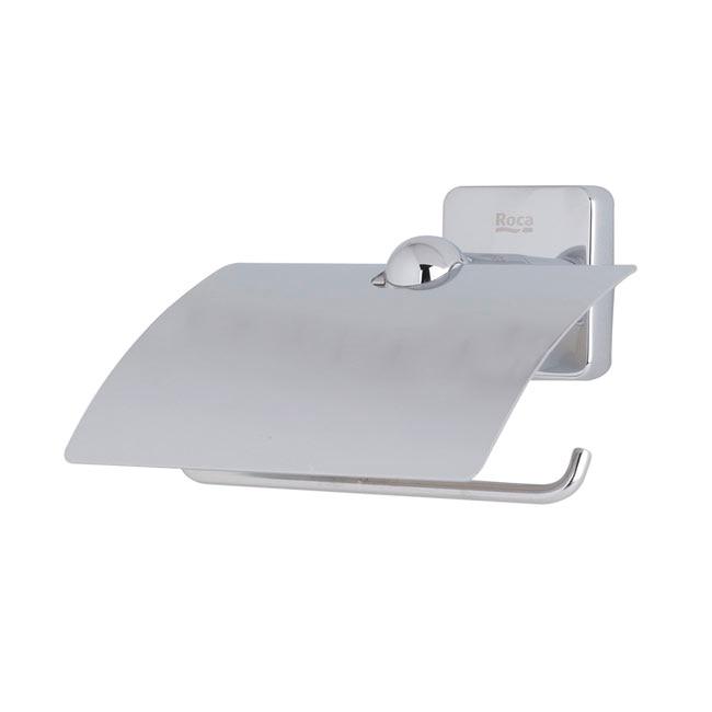 Portarrollos de ba o roca victoria portarrollos con tapa for Portarrollos papel higienico leroy merlin