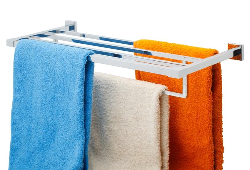 Balda con toallero de baño Sensea QUADDRO Ref. 17381224 - Leroy Merlin b69386ddc23c