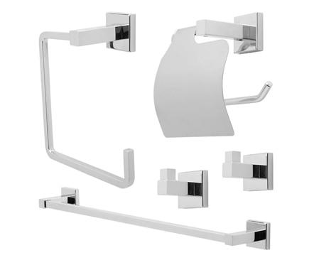Conjunto de accesorios de ba o sensea quaddro ref for Conjunto de accesorios de bano
