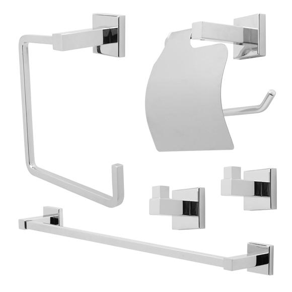 Conjunto de accesorios de baño Sensea QUADDRO Ref. 17381280 - Leroy ...