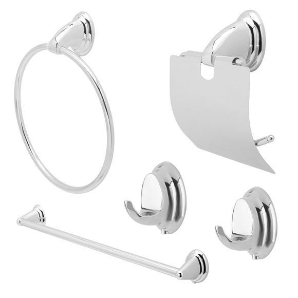 Conjunto de accesorios de ba o de ba o fresh cromo ref for Conjunto de accesorios de bano