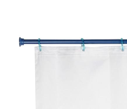 Barra para la cortina de la ducha sensea extensible azul for Barra ducha extensible