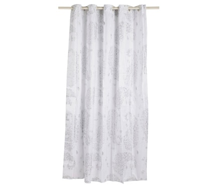 Cortina de ba o paisley plata ref 16623481 leroy merlin - Leroy merlin cortinas bano ...