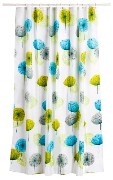 Cortina de ba o blossom azul verde ref 16623761 leroy merlin - Bombillas decorativas leroy merlin ...