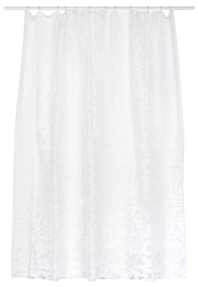Cortina de ba o sensea numeros transp blanco ref 16707292 - Leroy merlin cortinas bano ...