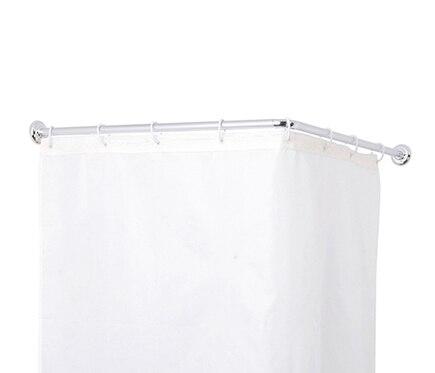 Barra para la cortina de la ducha sensea barra angular 80 for Barra cortina ducha leroy merlin