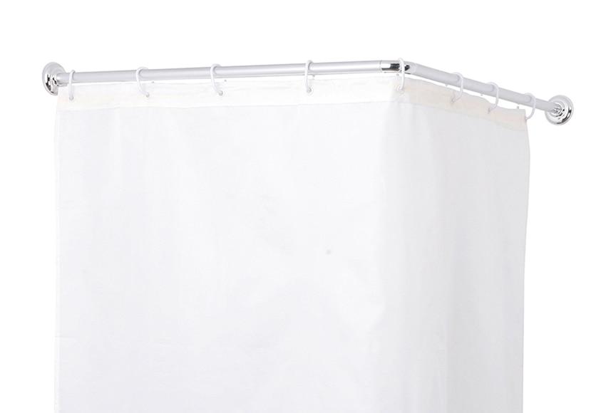 Barra para la cortina de la ducha sensea barra angular 80 - Cortinas para ducha ...