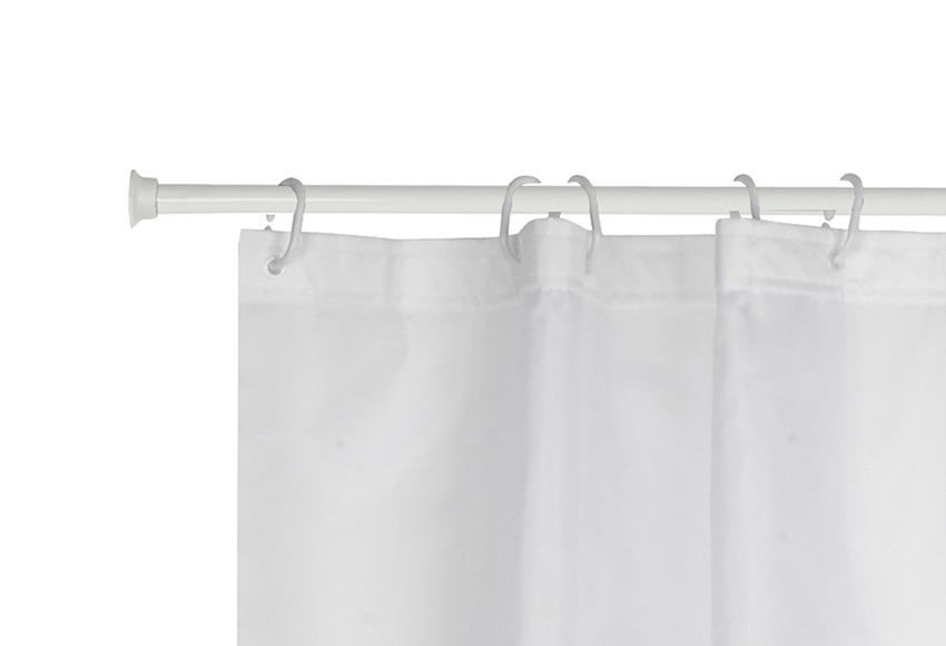 Barra para la cortina de la ducha sensea barra recta extensible 120 220 blanca ref 17902185 - Barra cortina bano ...