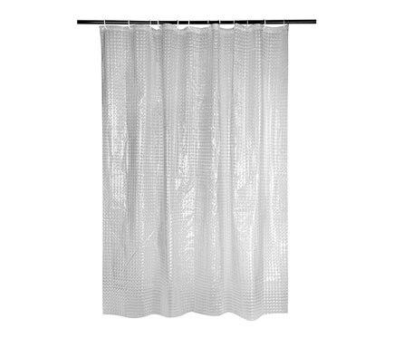 Cortina de ba o cube 3d transparente ref 19372150 leroy - Leroy merlin cortinas bano ...