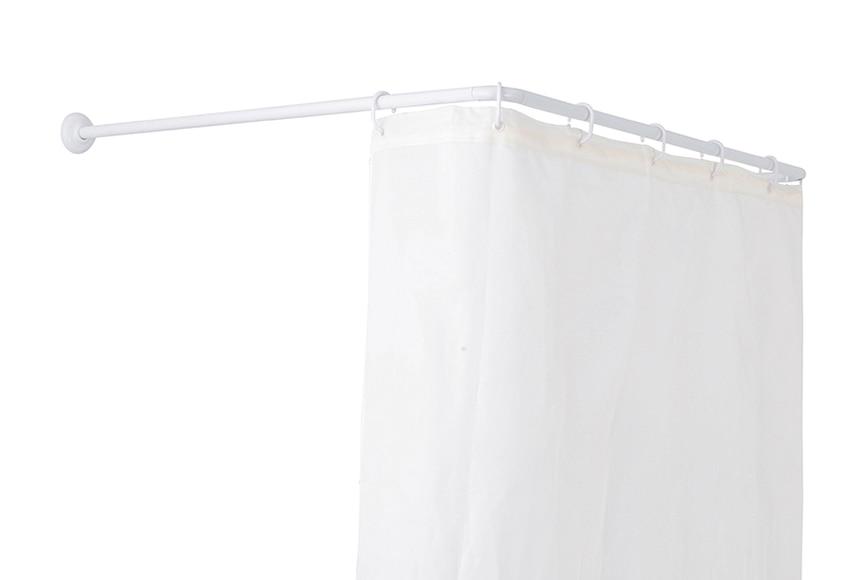 Barra para la cortina de la ducha sensea universal blanco - Barras para cortinas leroy merlin ...
