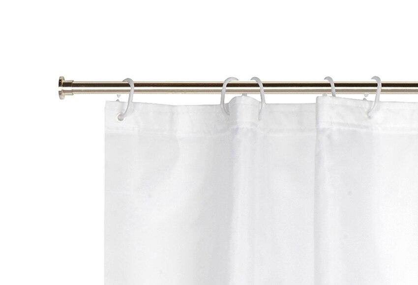 Barra para la cortina de la ducha sensea extensible cromo for Barra ducha extensible