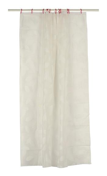 Cortina de ba o hojas blancas ref 15530655 leroy merlin for Leroy cortinas bano