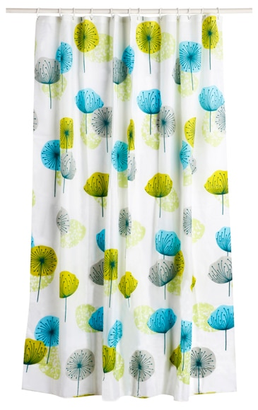 Cortina de ba o blossom azul verde ref 16623761 leroy - Leroy merlin cortinas bano ...