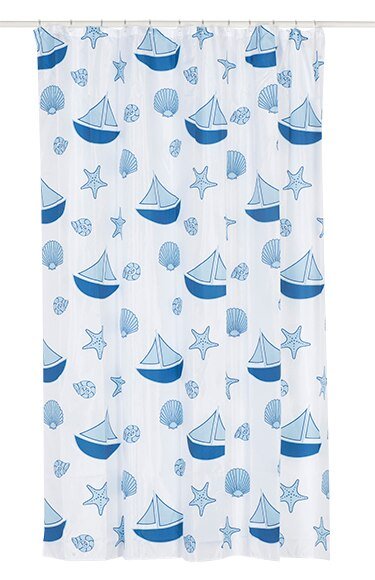 Cortinas De Baño Azul:Cortina de baño SAILLING 180X200 AZUL Ref 17151652 – Leroy Merlin