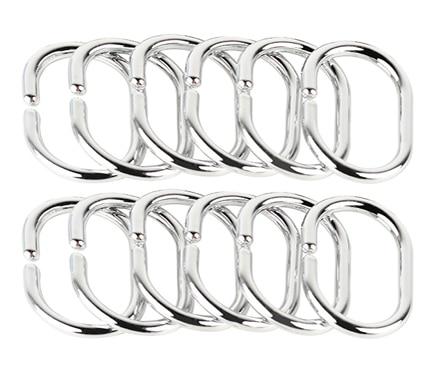 Anillas para cortina de ducha paquete 12 anillas cromo ref for Anillas para cortinas