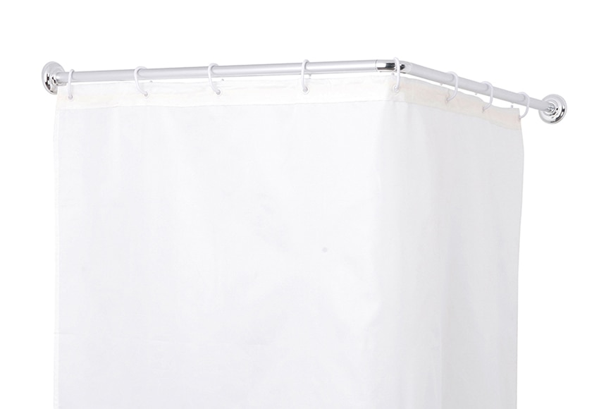 Barra para la cortina de la ducha sensea barra angular 80 for Barra cortina ducha ikea