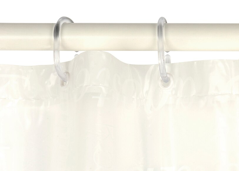 Anillas para cortina de ducha paquete 12 anillas - Cortinas ducha leroy merlin ...