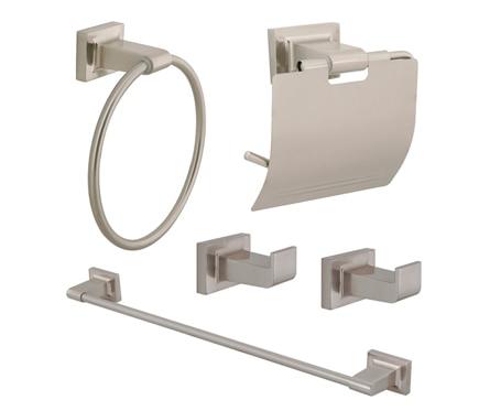 Conjunto de accesorios de ba o de ba o lina acero ref for Conjunto accesorios bano