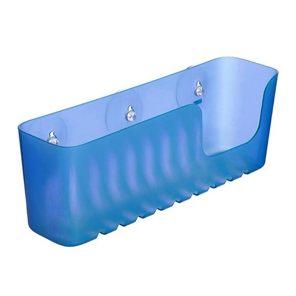 Cesta de ba o ventosa xl azul ref 19126030 leroy merlin for Ventosas para bano