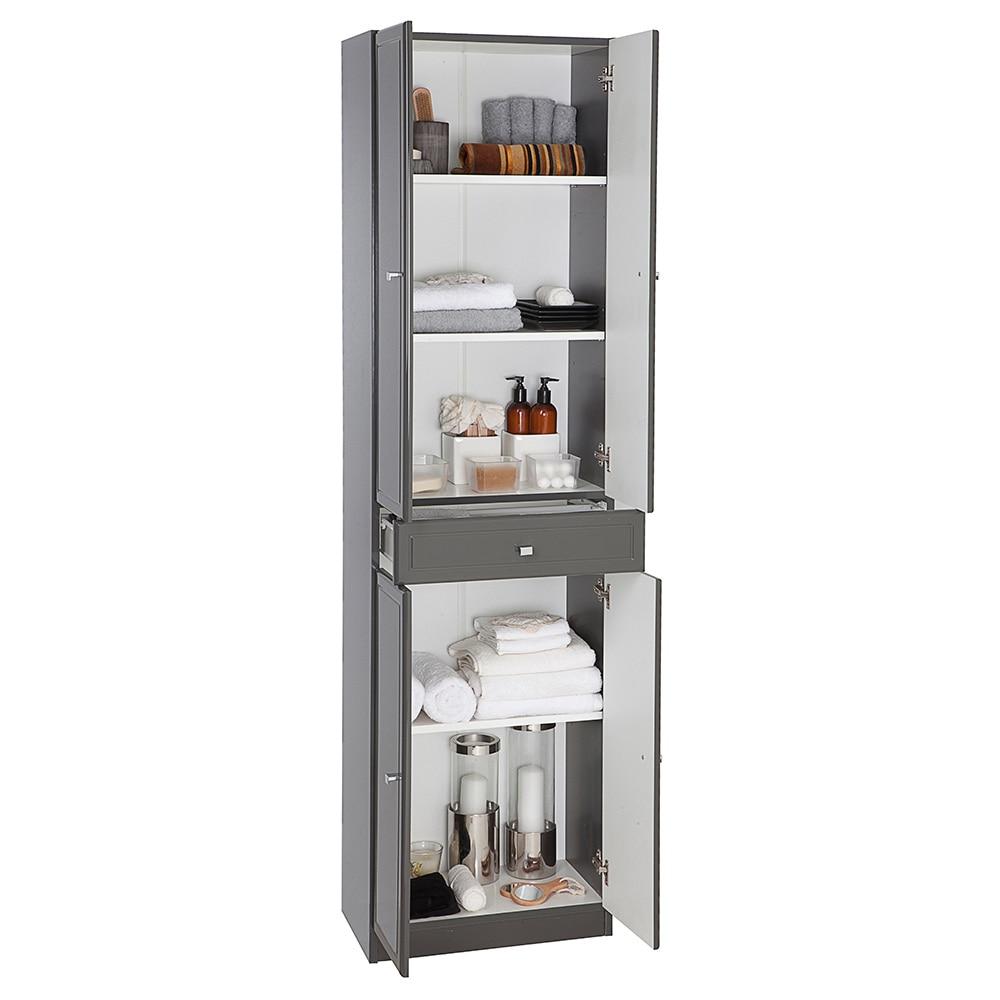 Mueble auxiliar de ba o serie galice columna ref 16729370 for Columna de bano ikea