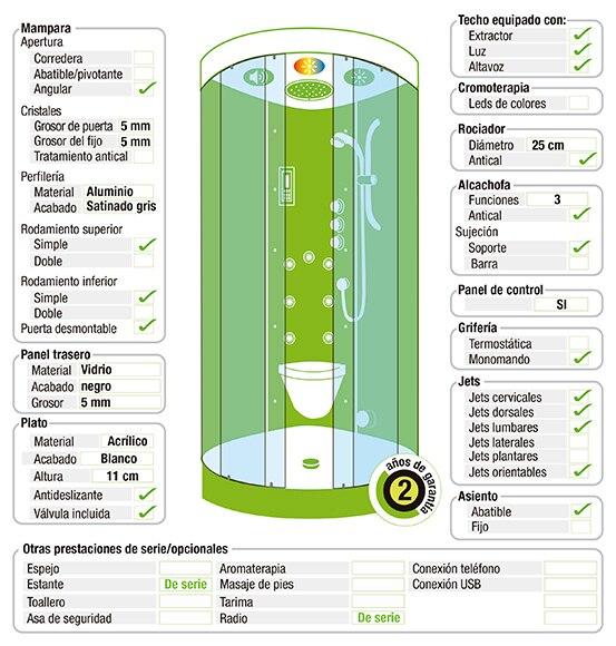 cabina de hidromasaje con sauna eklis sauna ampliar imagen