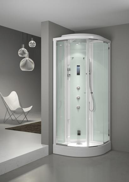 Cabina de hidromasaje con sauna evoclass ref 16689981 - Cabine doccia multifunzione leroy merlin ...