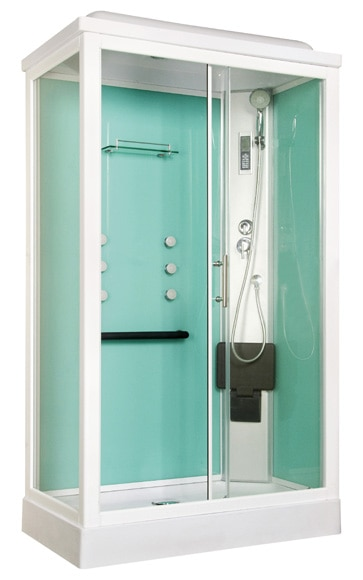 cabina de hidromasaje quinoa sauna ref 16673265 leroy merlin. Black Bedroom Furniture Sets. Home Design Ideas