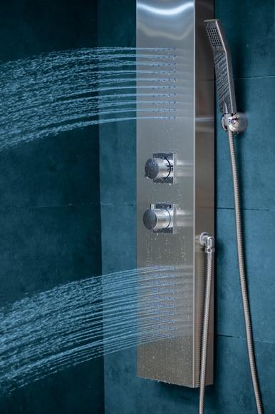 Columna de hidromasaje trevi termost tica ref 16581544 for Columna ducha leroy merlin