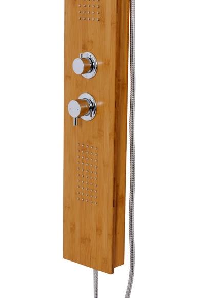 Columna de hidromasaje sensea woody ref 17364984 leroy for Columna ducha leroy merlin
