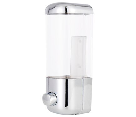 Dispensador de jab n abs cromo ref 13644036 leroy merlin for Dispensadores para banos