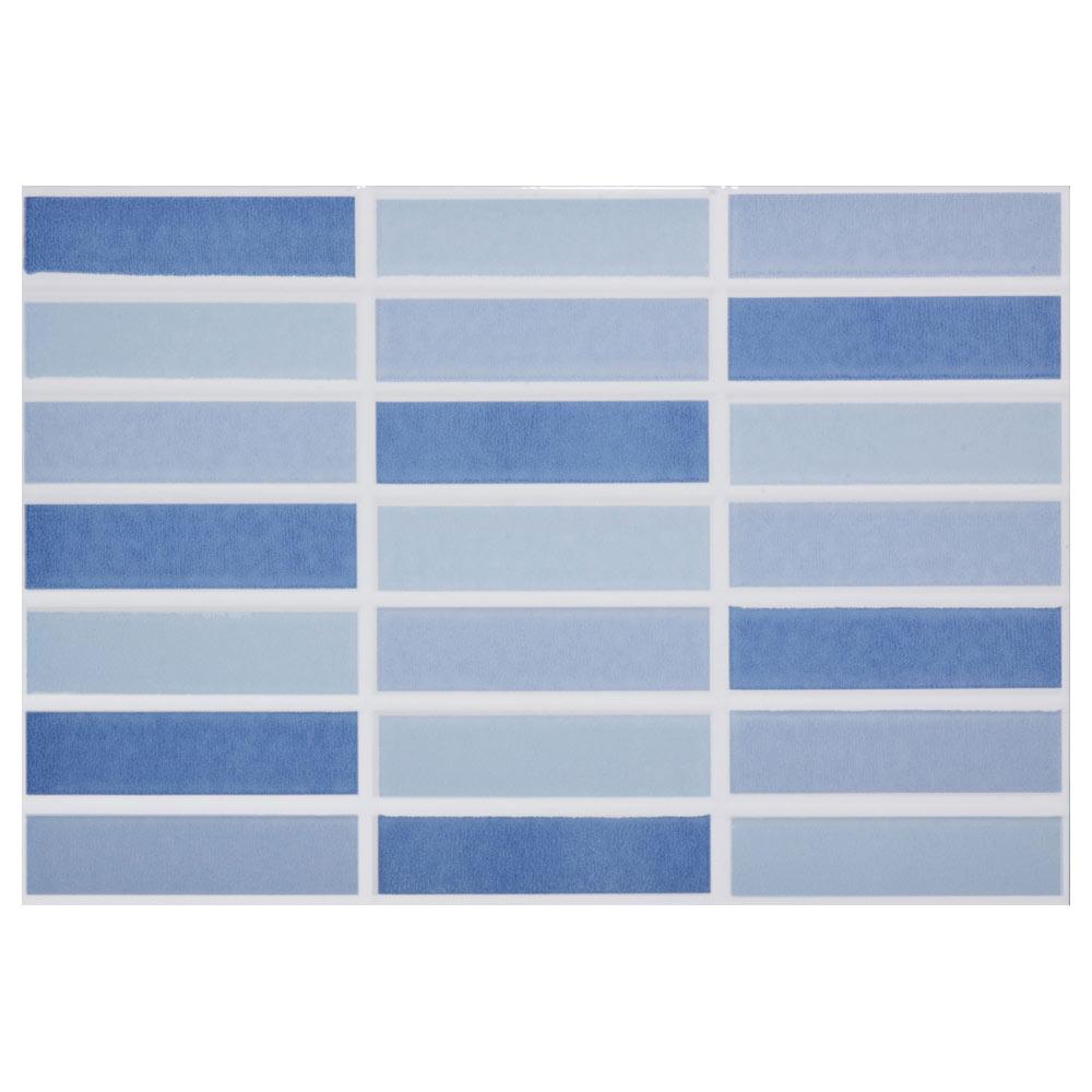 Revestimiento 25x36 5 cm azul serie caribe ref 16955365 for Azulejos leroy merlin
