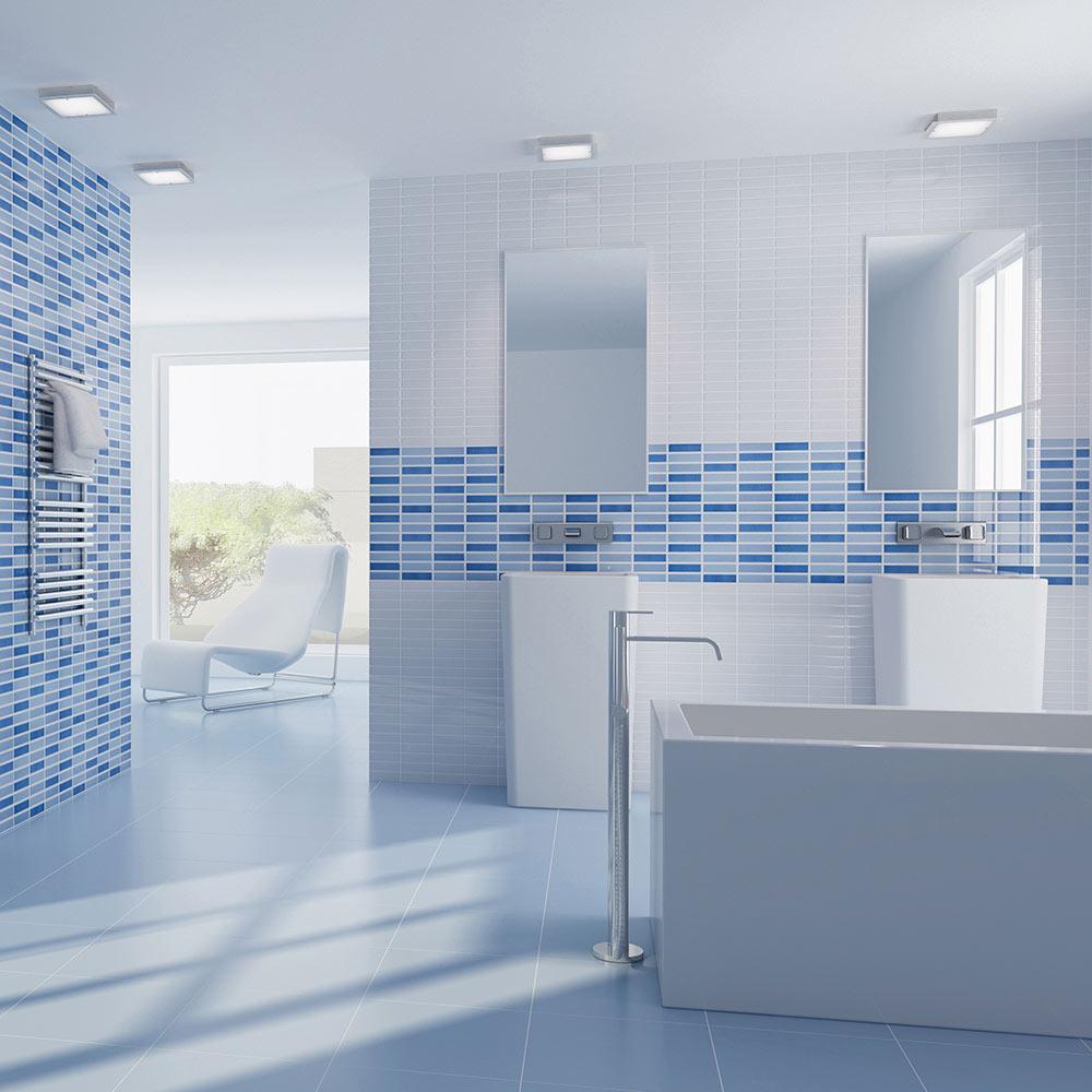 Revestimiento 25x36 5 cm blanco serie caribe ref 17034836 - Azulejos banos leroy merlin ...