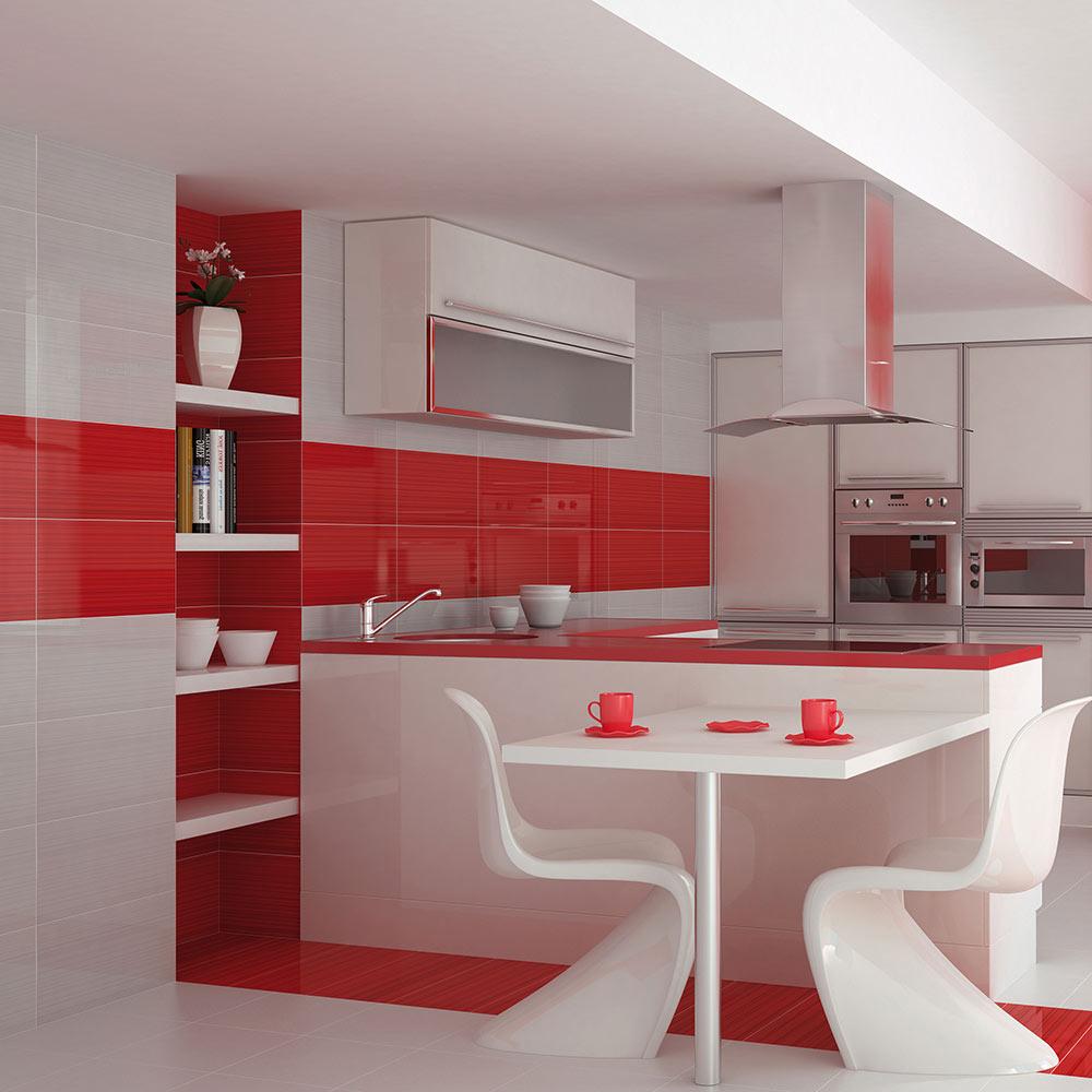 Revestimiento 25x50 cm blanco serie colours ref 17034892 leroy merlin - Losas para cocina ...