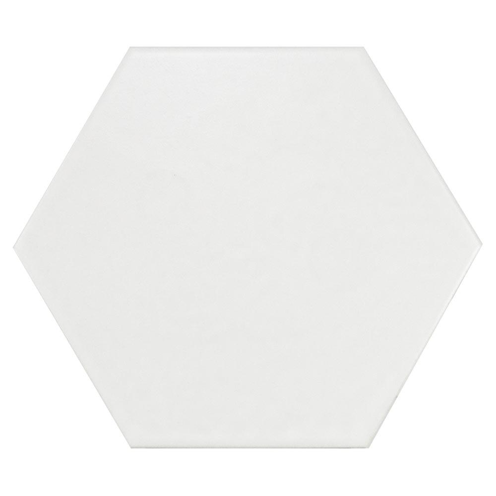 Pavimento cm blanco mate serie hexagonal ref for Pavimento ceramico hexagonal