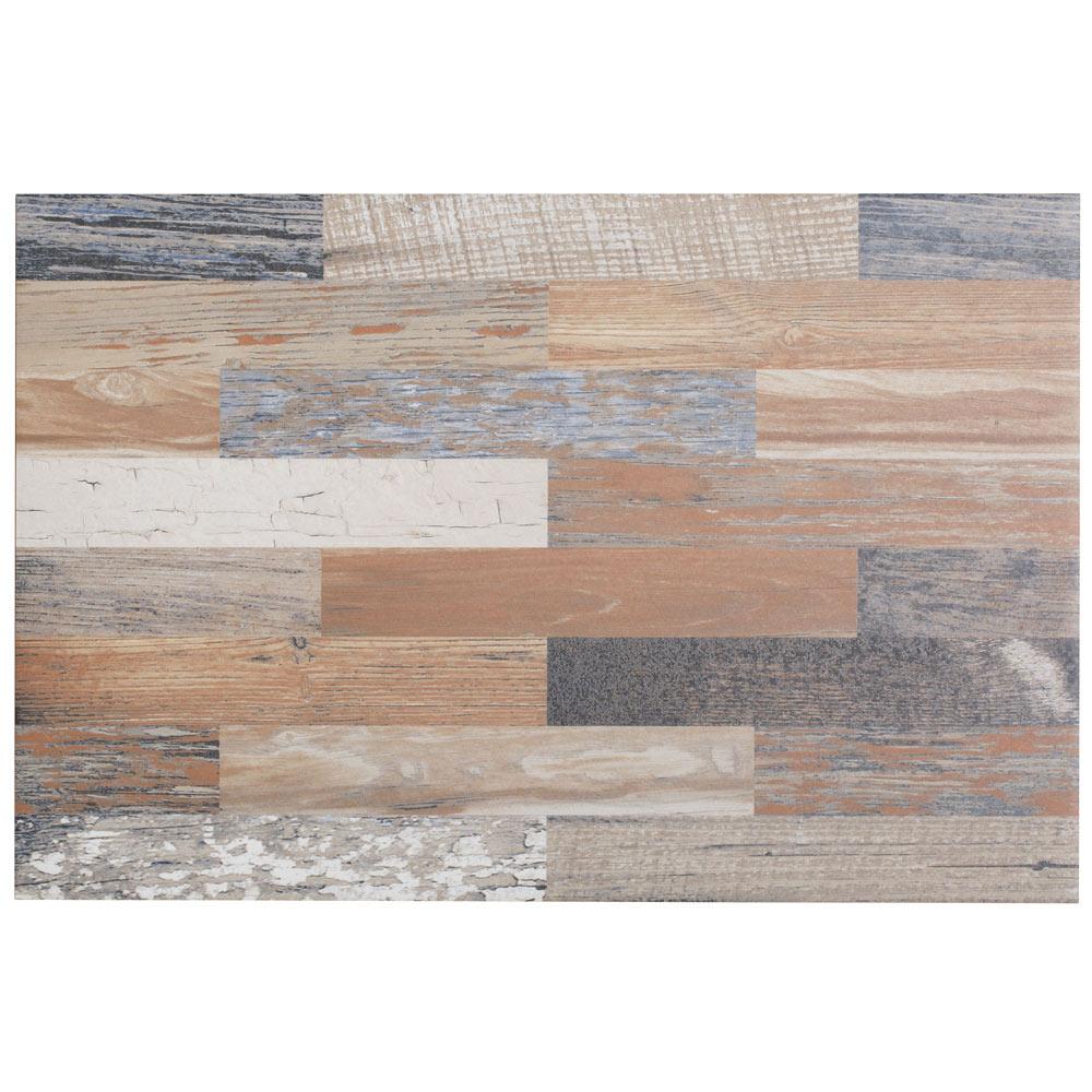 Pavimento 40x60 cm azul serie madera decap ref 17377843 - Tablas madera leroy merlin ...